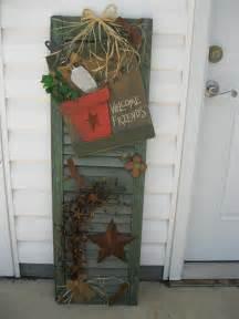 primitive craft projects welcome shutter diy primitive crafts