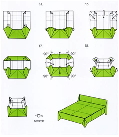 how to make a origami bed stuff furniture origami pinaywife s picks etc