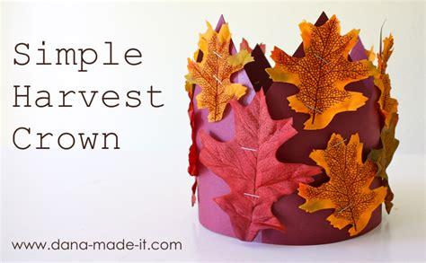 harvest craft for harvest crown made everyday