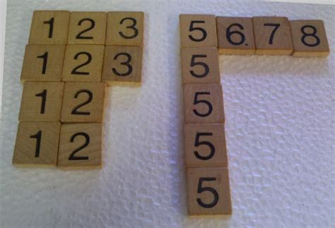scrabble tile numbers lot of 18 vintage wood scrabble tile numbers crafts