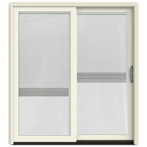 sliding door with blinds between glass shop jeld wen w 2500 71 25 in blinds between the glass
