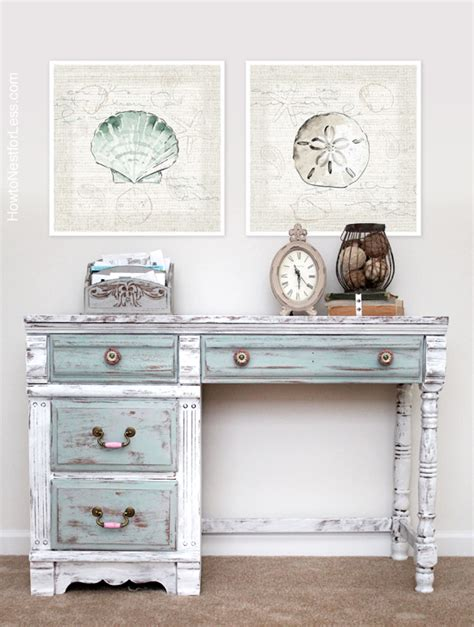 chalk paint desk distressed chalk paint desk makeover how to nest for less