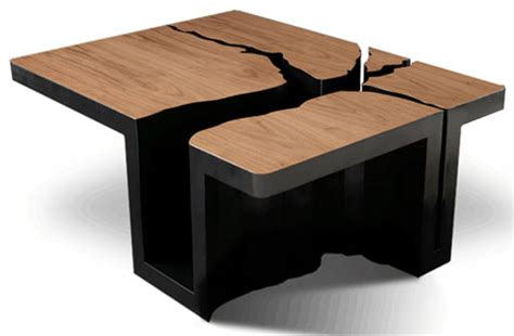 designer table simply extruded tree coffee table design