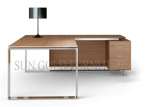 modern metal desk new modern office desk with metal frame sz od026 buy
