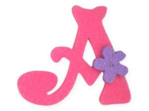 pink felt alphabet letters iron on motif letter a