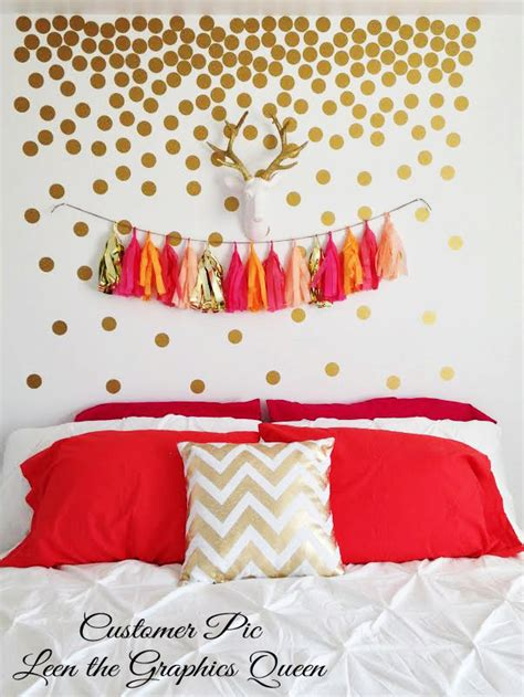 gold dot wall decals gold circle dot shaped wall decals gold by