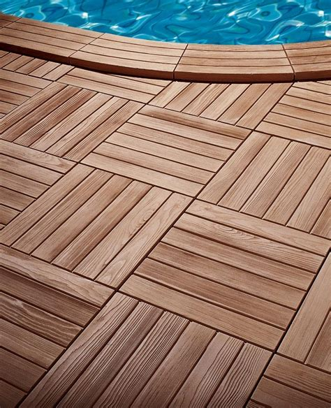 margelle de piscine en reconstitu 233 e aspect bois angle rentrant
