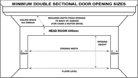 standard overhead door sizes standard garage door sizes single roller doors