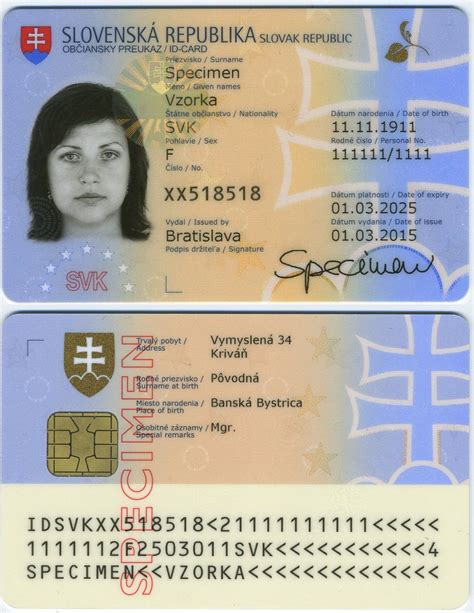 how to make a identity card slovak identity card