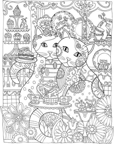 cat for adults cat coloring pages for adults