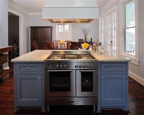 stove in island kitchens kitchen island ranges houzz