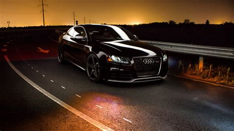 Car Sunset Wallpaper by Audi Road Sunset Hd Cars 4k Wallpapers Images