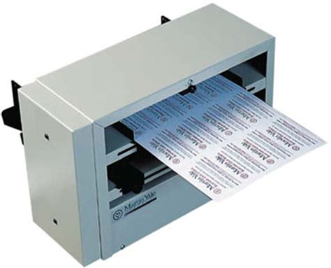 business card machine martin yale bcs210 electric 10up business card slitter