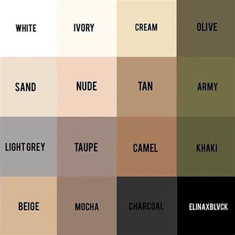 i this all these neutrals colours go together so