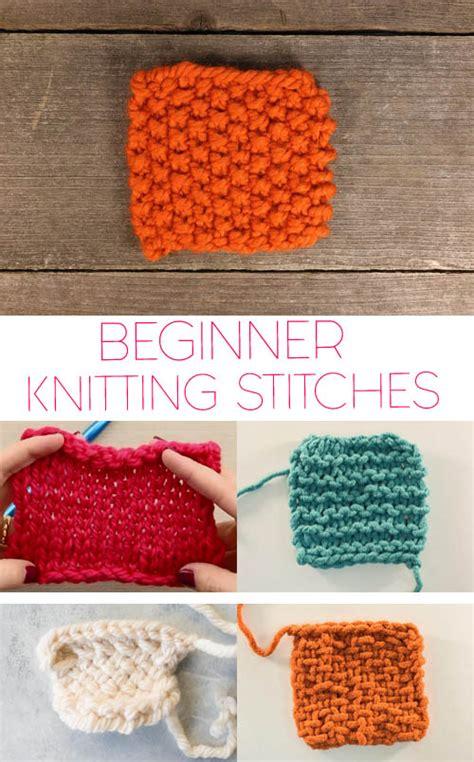 knitting basics 5 basic knitting stitches for beginners michele
