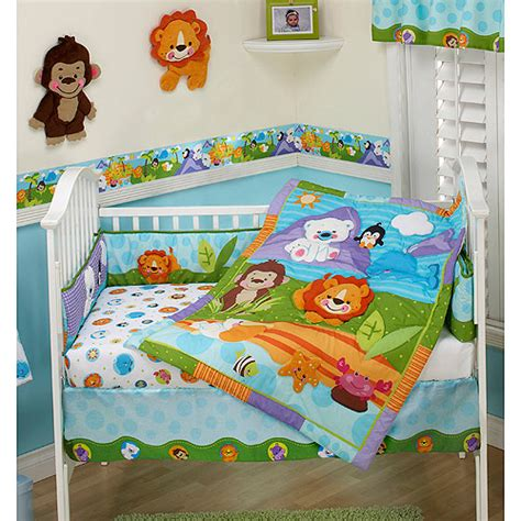 find the fisher price 3 pc crib bedding set for less at