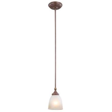 home depot pendant lights hton bay bristol collection 1 light nutmeg bronze mini