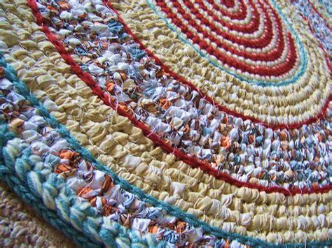 how to crochet a rag rug crochet rag rug toothbrush woven rug non skid backing
