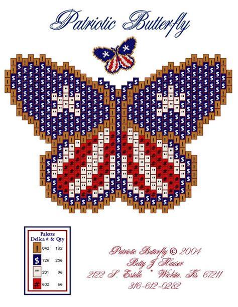 free printable seed bead patterns beaded butterfly patterns free free patterns click