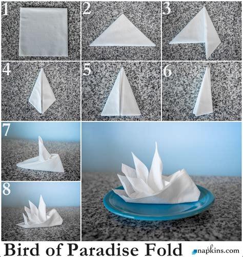 napkin folding origami bird of paradise napkin fold how to fold a napkin