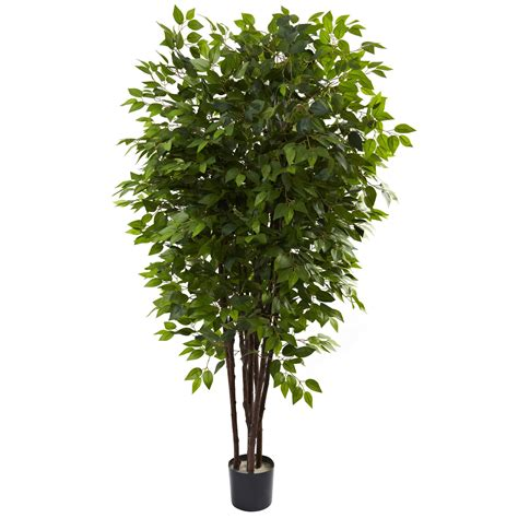 artificial trees 6 5 foot artificial deluxe ficus tree potted 5402
