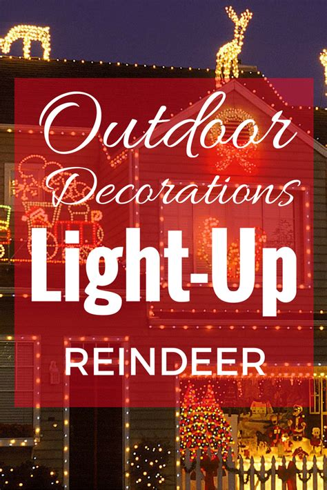 light up reindeer outdoor decoration light up reindeer outdoor decoration prep