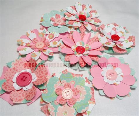 cool crafts made out of paper 25 best ideas about scrapbook paper flowers on