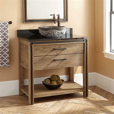 center sink bathroom vanity 36 quot celebration vessel sink vanity rustic acacia bathroom