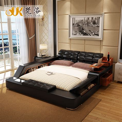 modern king size bed frame popular leather king bed buy cheap leather king bed lots