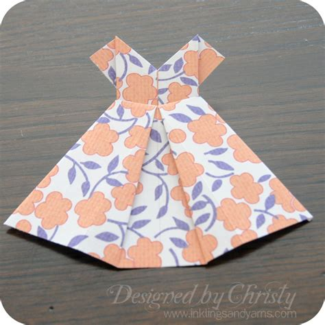 easy origami dress origami dress tutorial myideasbedroom