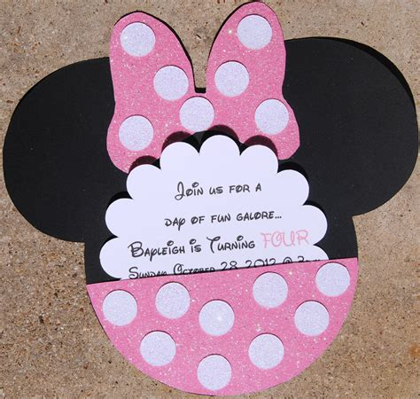 how to make minnie mouse invitation cards minnie mouse invitations theruntime