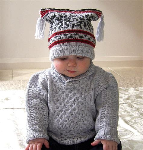 knitting patterns for jerseys baby sweater with cables shawl collar plus fair isle