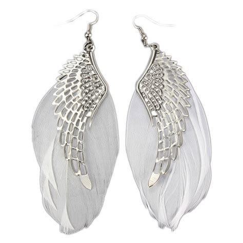 feathers for jewelry charming jewelry retro wings feather shaped simple