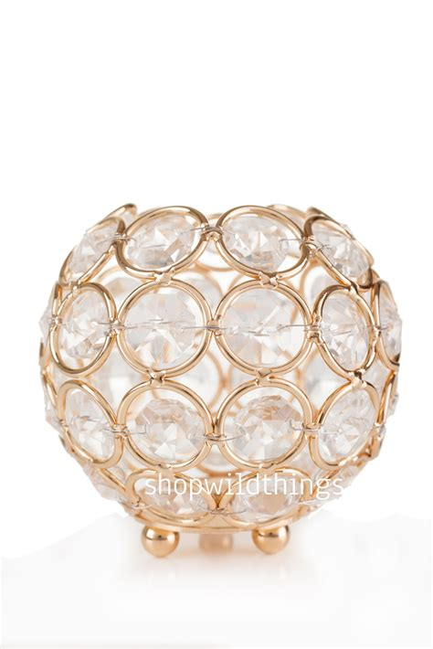 beaded candle holder candle holder real beaded gold wedding and