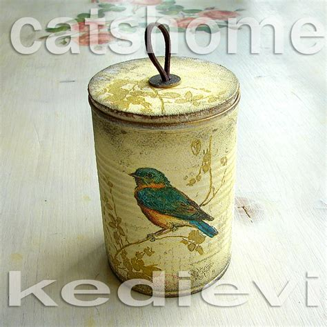 decoupage tin decorative tins made by napkin decoupage 2 by catshome on