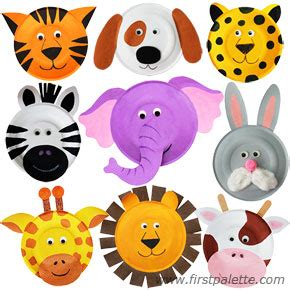 paper animal crafts paper plate animals craft crafts firstpalette