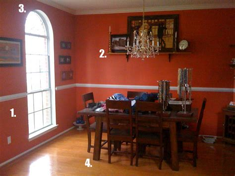 orange dining rooms burnt orange dining room large and beautiful photos