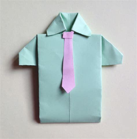 origami paper shirt pushing paper popty ping