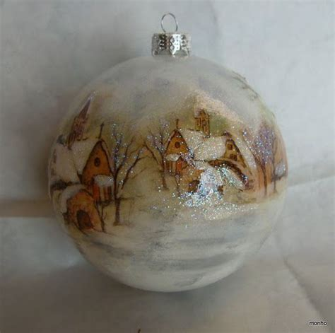 decoupage glass ornaments 73 best images about decoupage on snowflakes