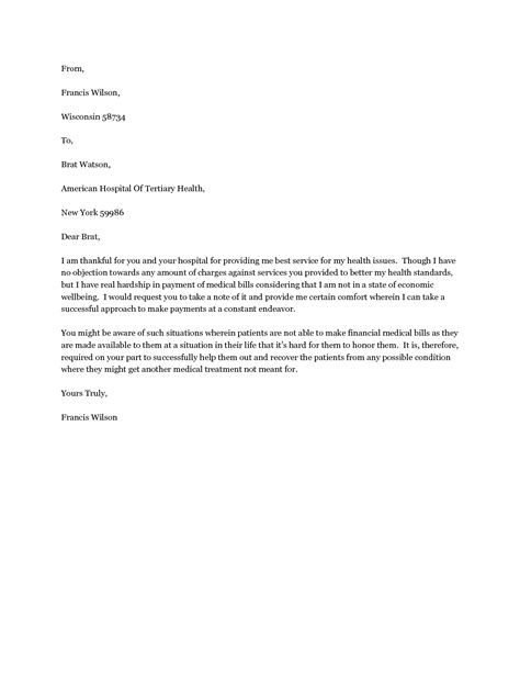 Modification Letter by Exle Of Hardship Letter Crna Cover Letter