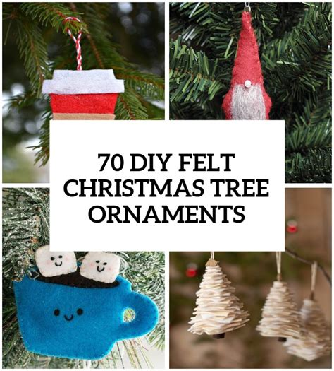 tree decorations diy 70 diy felt tree ornaments shelterness