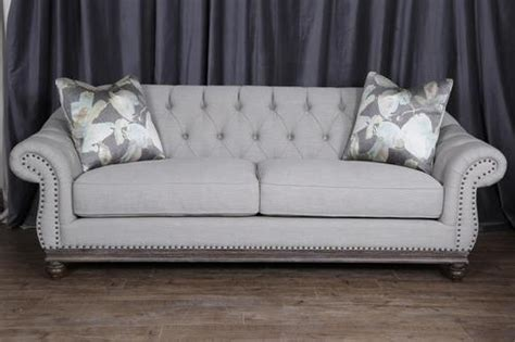 tufted sofa with nailheads magnussen home traditional button tufted sofa