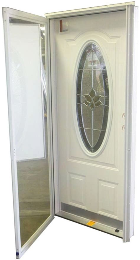mobile home exterior doors 32x76 3 4 oval glass door rh for mobile home manufactured