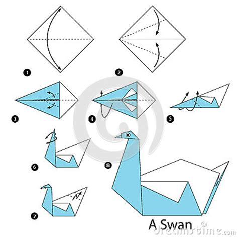 origami 3d swan step by step step by step how to make origami a swan