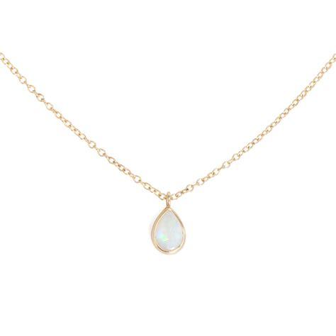 jewelry necklaces opal teardrop necklace catbird