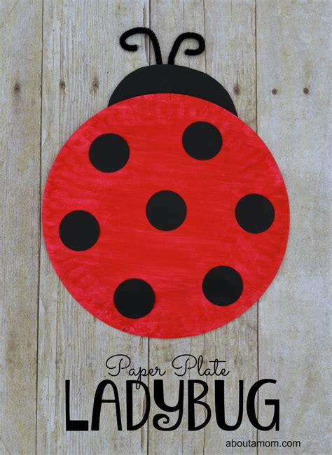 ladybug crafts for paper plate ladybug craft for about a