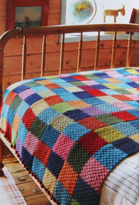 knit quilt patterns brilliant knitted quilt idea moss stitch in a