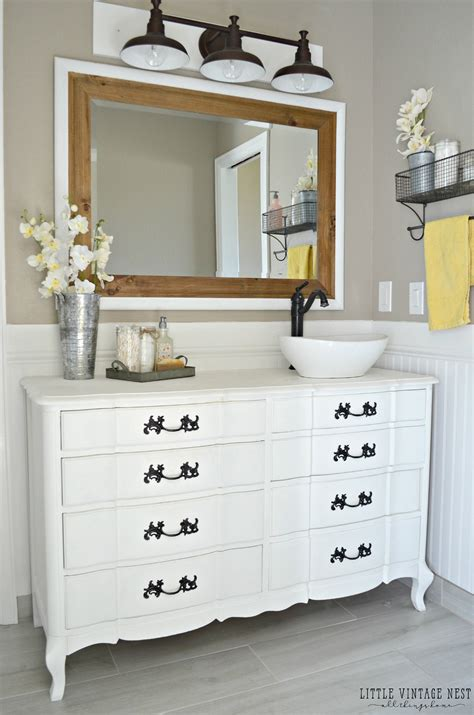 how to turn a dresser into a bathroom vanity dresser turned bathroom vanity tutorial