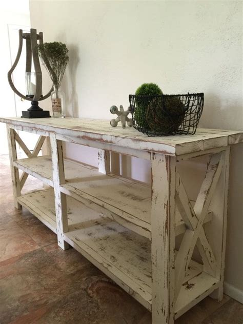 farmhouse sofa table 25 best ideas about rustic console tables on