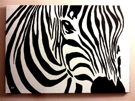 acrylic painting zebra zebra canvas acrylic painting by patrissaart on deviantart